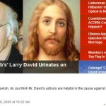 Larry David urinates on Jesus – the expected ensues